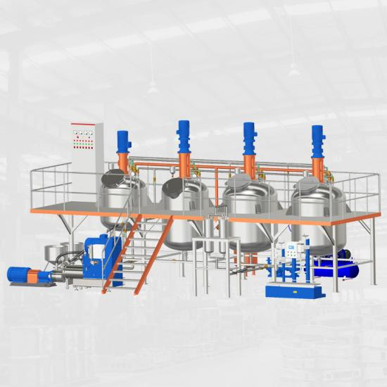 solvent base paint mixer paint production line
